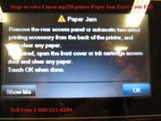 Solve Canon mp258 printer Paper Jam Error E03 | 1-800-213-8289